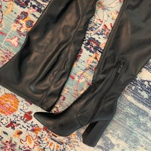 PrettyLittleThing Shoes - ♡ PrettyLittleThing Thigh High faux leather boots